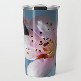 Peach Blossom Blue Sky Travel Mug