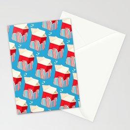 Milk Pattern - Blue Stationery Cards