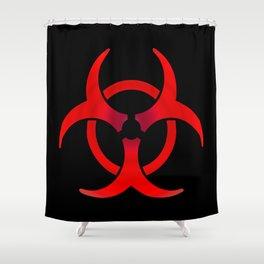 Biohazard - Red Shower Curtain