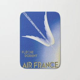Flèche D'Orient - Vintage Air France Travel Poster Bath Mat