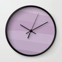 CALMING WAVES - PURPLE LILAC LINES Wall Clock