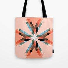 Three Triangles Geometric in Coral Tote Bag