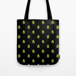 Avocado Hearts (black background) Tote Bag