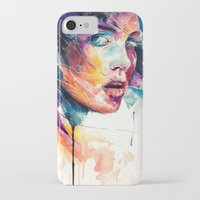 glass iPhone & iPod Cases featuring sheets of colored glass by agnes-cecile