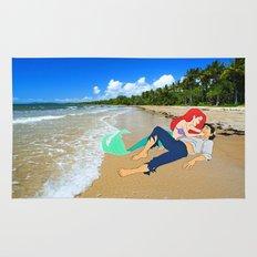 The Little Mermaid Ariel and Eric on the Beach Rug