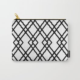 Garden Gate in Balck and White Carry-All Pouch