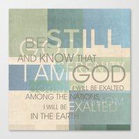 scripture Canvas Prints featuring Psalm Scripture Collage by Dallas Drotz