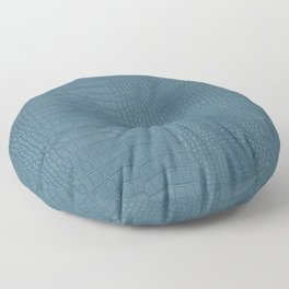 Turquoise Alligator Leather Print Floor Pillow