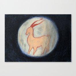 venado y luna Canvas Print