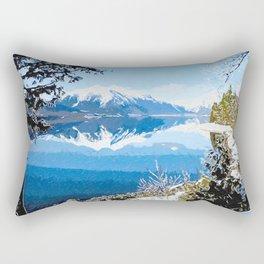 Panorama view of Lake Mcdonald Rectangular Pillow