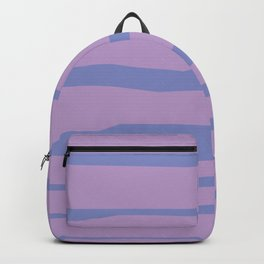 Abstract   Purple Lines Backpack