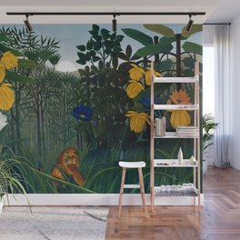 Henri Rousseau - The Repast of the Lion Wall Mural