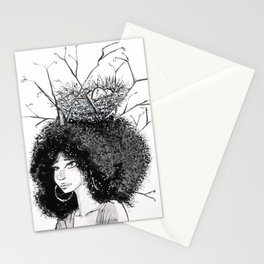Overgrown afro Stationery Cards