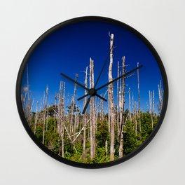 Cape Breton Seaside Treescape Wall Clock
