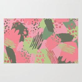 Pink & Green cool brush Rug