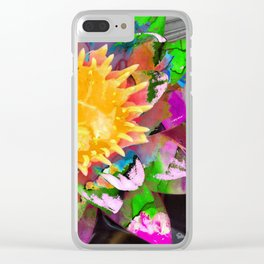 Abstract Flower Art - Wild Lotus Flower - Sharon Cummings Clear iPhone Case