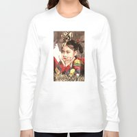 korean Long Sleeve T-shirts featuring Korean Dancing Girls by Robert S. Lee Art