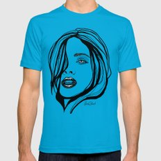 That Girl Teal LARGE Mens Fitted Tee