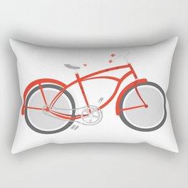 red bicycle Rectangular Pillow