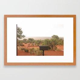 Landscape Grill Framed Art Print