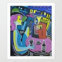 Wine at night Art Print