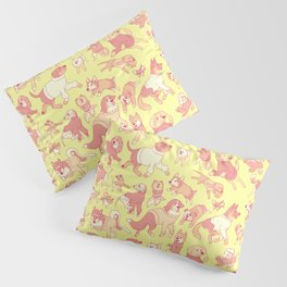 Dogs In Sweaters (Yellow) Pillow Sham