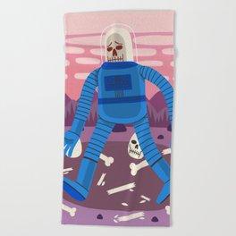 Sad Spaceman Beach Towel