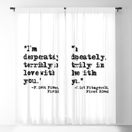 Desperately, terribly in love - Fitzgerald quote Blackout Curtain