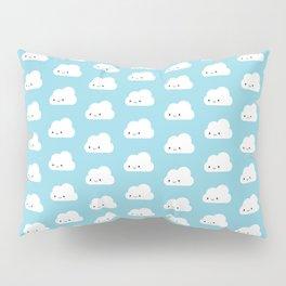 Happy Kawaii Clouds Pillow Sham