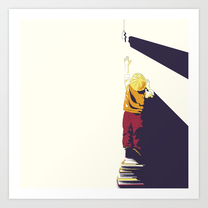 The best book of them all. Art Print