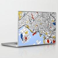 oslo Laptop & iPad Skins featuring Oslo mondrian by Mondrian Maps