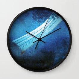 deep blue (pinhole camera) Wall Clock