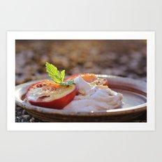 Cinnamon Baked Nectarines Art Print