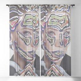 Time Traveler Sheer Curtain