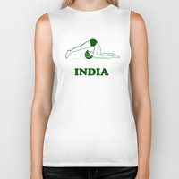 india Biker Tanks featuring India  by Tshirtbaba