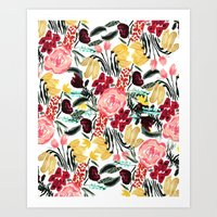 garden Art Prints featuring Wild Garden II by Bouffants and Broken Hearts