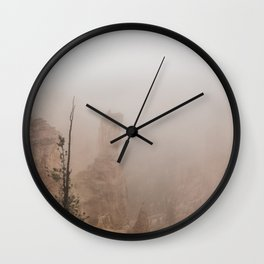 Bryce Canyon Obscured Wall Clock