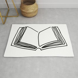 One line book Rug