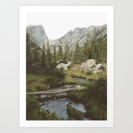 Dream Lake Creek Art Print