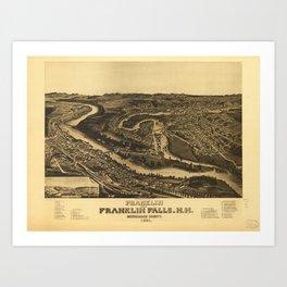 Franklin and Franklin Falls, New Hampshire (1884) Art Print