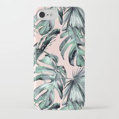 Island Love Coral Pink + Green iPhone 7 Slim Case