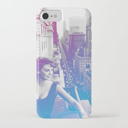 Natalie Wood Cityscape iPhone Case