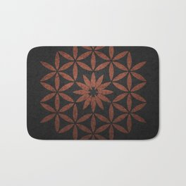 The Flower of Life - Ancient copper Bath Mat