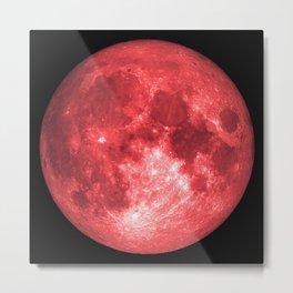 Red full moon Metal Print