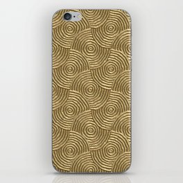 Golden glamour metal swirly surface iPhone Skin