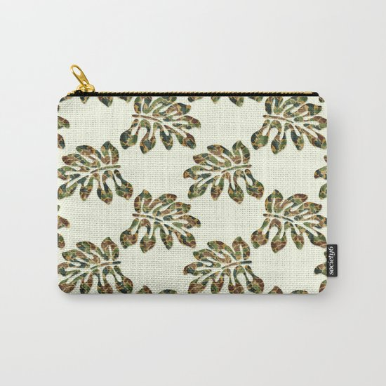 Camouflage Tropical Leaves Carry-All Pouch