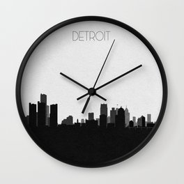 City Skylines: Detroit Wall Clock
