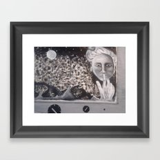 Moon Lady Framed Art Print
