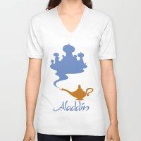 aladdin V-neck T-shirts featuring Aladdin by Citron Vert