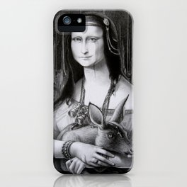 Mona Lisa in the forest iPhone Case